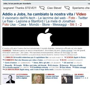Repubblica 6/10/11 morte s.jobs